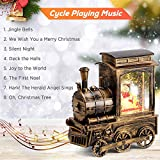 IPOW Christmas Snow Globe Lantern Train with Water