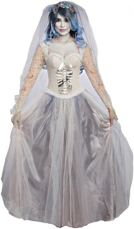 Premium Bodywear AG Disfraz de Novia Zombie, Talla M, Vestido de ...