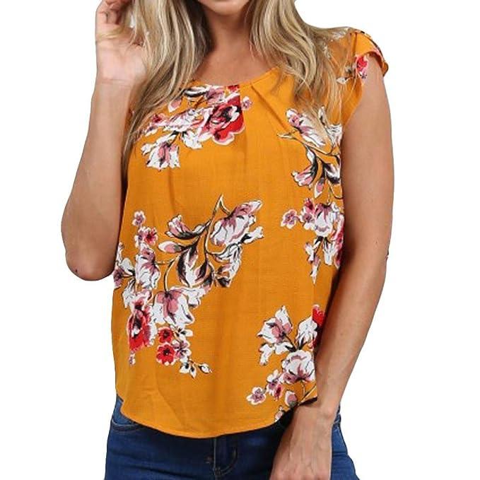 Camisetas Estampadas Mujer AIMEE7 Blusa De Moda De Manga Corta Blusa De Moda con Estampado De