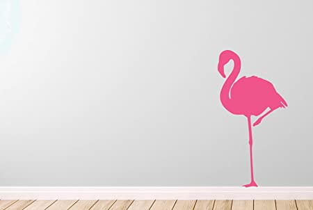 Flamingo wall stickers art decals medium height 57cm x width 29cm pink