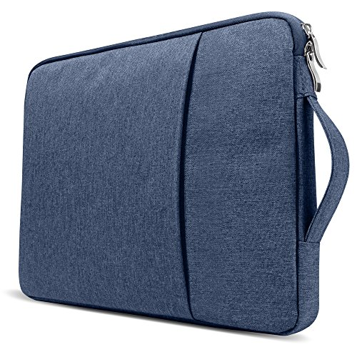 GMYLE 2 in 1 Bundle Soft-Touch Frosted Hard Case for Macbook Air 13 inch (Model: A1369/A1466) and 13-13.3 inch Water Repellent Laptop Sleeve with Handle and Pocket - Navy Blue by GMYLE (Image #1)