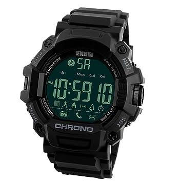 zhuotop deporte reloj inteligente impermeable Bluetooth Deportes Relojes de pulsera teléfono Mate para Android IOS: Amazon.es: Deportes y aire libre