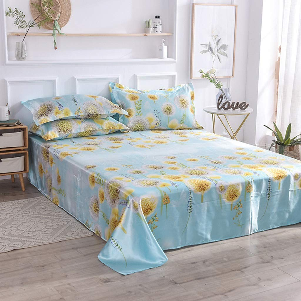 A Bedding Fitted Sheet Well Made Bedsheets (color   B)