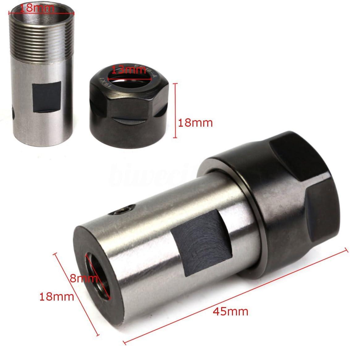 Espeedy ER16 Collet Chuck Motor Shaft Inner 8mm Spindle Extension Rod for CNC Milling