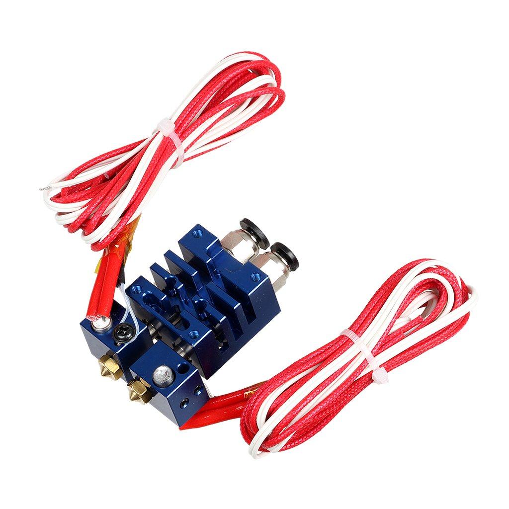 Chimä re Extruder V6 2 Eingä nge, 2 Ausgä nge Dual-Kopf-Hotend 0.4mm / 1.75mm Fü r 3D-Drucker - Rot, 12V Generic STK0151006787