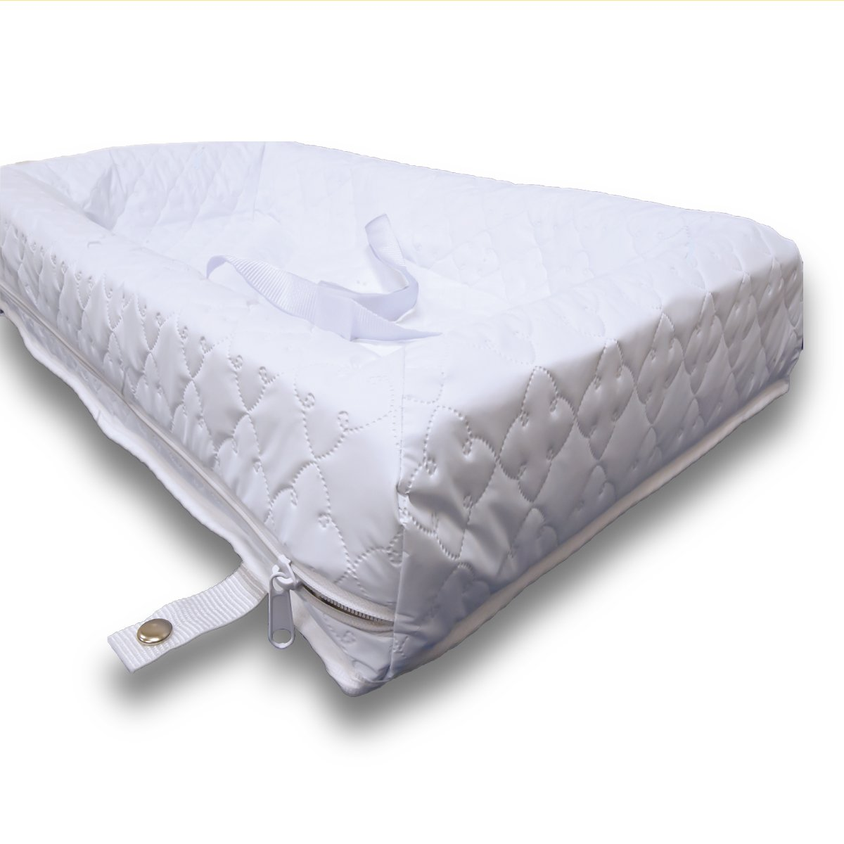 Rumble Tuff Zipped Contour Changing Pad, White, Compact
