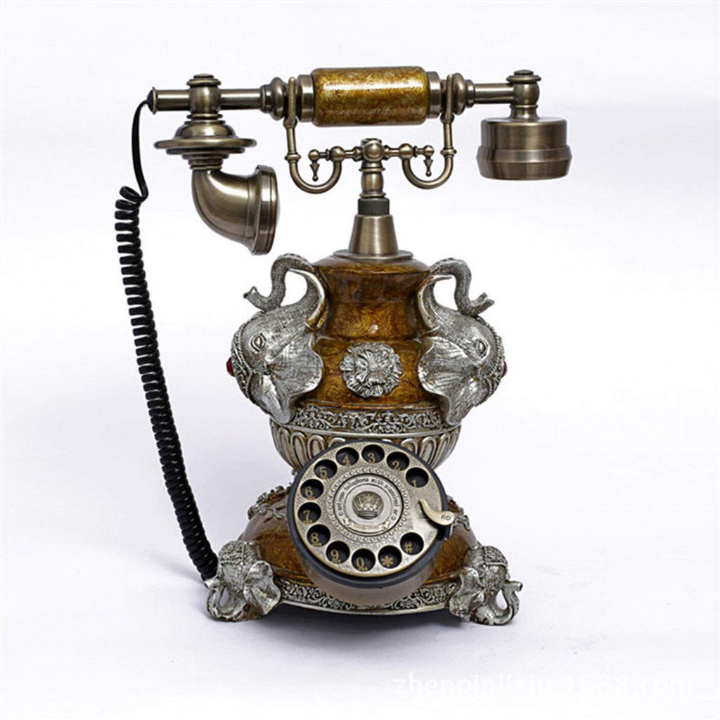 Bove Retro Telephone Ceramics, Corded Vintage Telephone One-Touch Redial European Style Rotary Dial Gift Handle Accessories Decorative Telephones Mechanical Ringer Antique Telephone -A by Bove