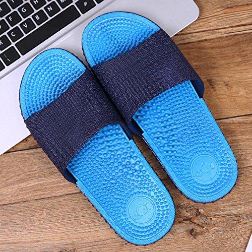 XIAOLIN Zapatillas inferiores de masaje de verano Baño interior Playa Versión japonesa al aire libre de las zapatillas de deporte antideslizante coreano inferior grueso de los hombres inferiores (tama 03