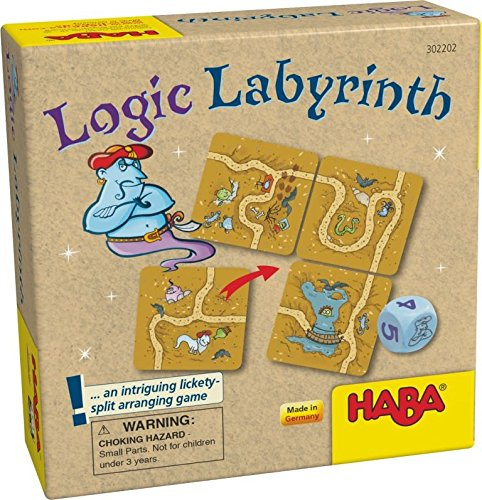 HABA Logic Labyrinth - An Intriguing Lickety-Split Brainteaser Game (Made in Germany)