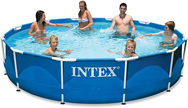 Amazon Com Intex 12ft X 30in Metal Frame Pool With Filter Pump Garden Outdoor
