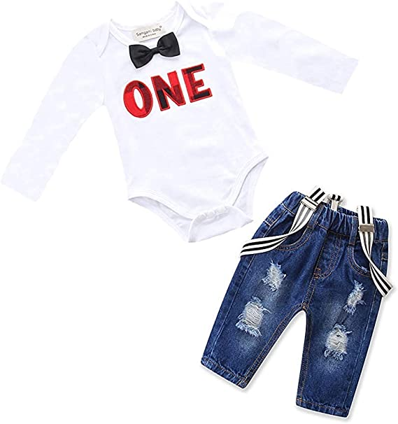 A14UBP Baby Infant Toddler Long Sleeve Baby Clothes American Flag Texas Flag Puzzle Heart Playsuit Outfit Clothes