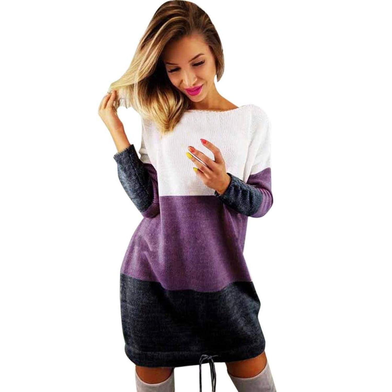 MCYS sweter z okrągłe wycięcie pod szyją do robienia na drutach ...