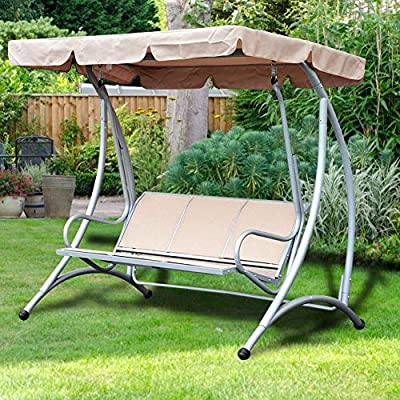 Vikye Swing Canopy Cover Set, Waterproof Swing Cover Seat Top Cover Oxford Cloth Outdoor Rainproof Durable Anti Dust Protector, 74.80 x 51.97 x 5.91 inch(Beige) : Garden & Outdoor