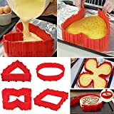 simuer Silicone Cake Mold, 8 Pack Magic Bake Snakes Food Grade Nonstick DIY Baking Mould Tools - Design Your Cakes Any Shape