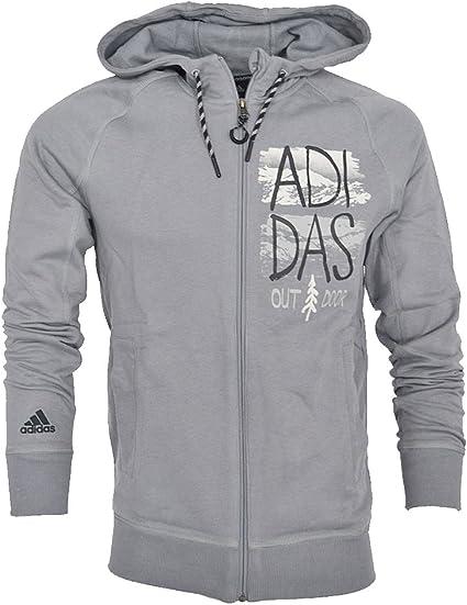 adidas Veste Capuche Outdoor Ed Logo Hood J Gris F91901