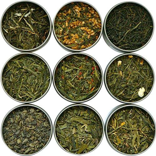 Heavenly Tea Leaves Assorted Green Tea Sampler, 9 Count -