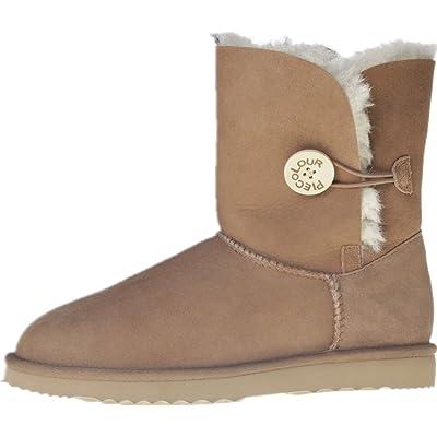 --Fur boots sheepskin leather raw wool lightweight outsole 18mm hair high waterproof super warm