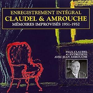 Mémoires improvisés 1951-1952 Discours