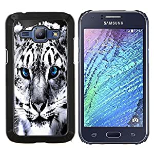 "Be-Star Único Patrón Plástico Duro Fundas Cover Cubre Hard Case Cover Para Samsung Galaxy J1 / J100 ( Blue Eye nieve pantera Jaguar"" )"