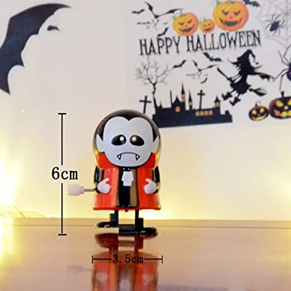 chezaa halloween props funny clockwork gift wind up bounce toy ghost monster for kids 6x3