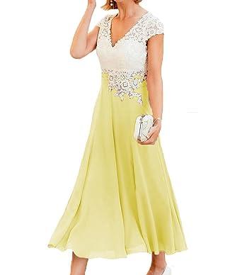 c62181e94b16f5 ShineGown Mutter der Braut Chiffon Kleider Spitze Applique Top für formale  Abendgesellschaft: Amazon.de: Bekleidung