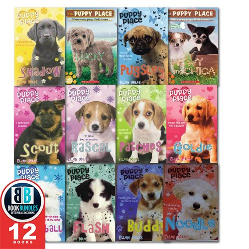 The Puppy Place Set of 16 Books: Maggie and Max, Noodle, Lucky, Bear, Honey, Cody, Jack, Sweetie, Goldie, Snowball, Shadow, Rascal, Buddy, Flash, Scout and Patches By Ellen Miles (The Puppy Place Lucky)