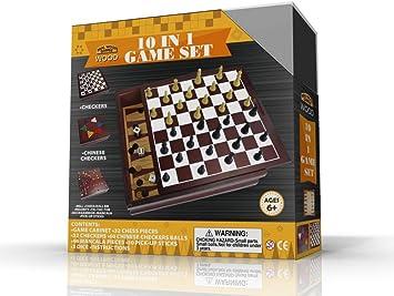 10-IN-1 WOODEN GAME SET: Amazon.es: Juguetes y juegos