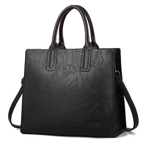 9de0661ba5 Amazon.com  UOXMDNJC Women Pu Leather Handbags Ladies Large Tote Bag ...