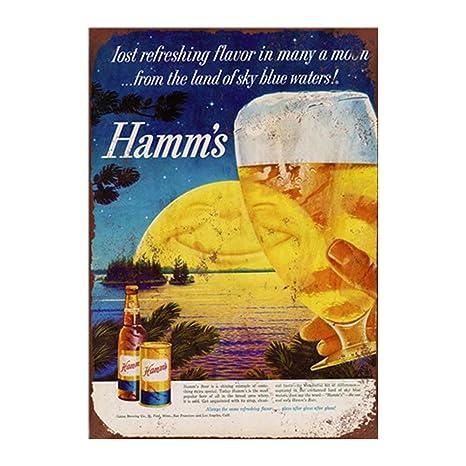 Amazon.com: Yomia Hamms - Cartel de cerveza vintage para ...