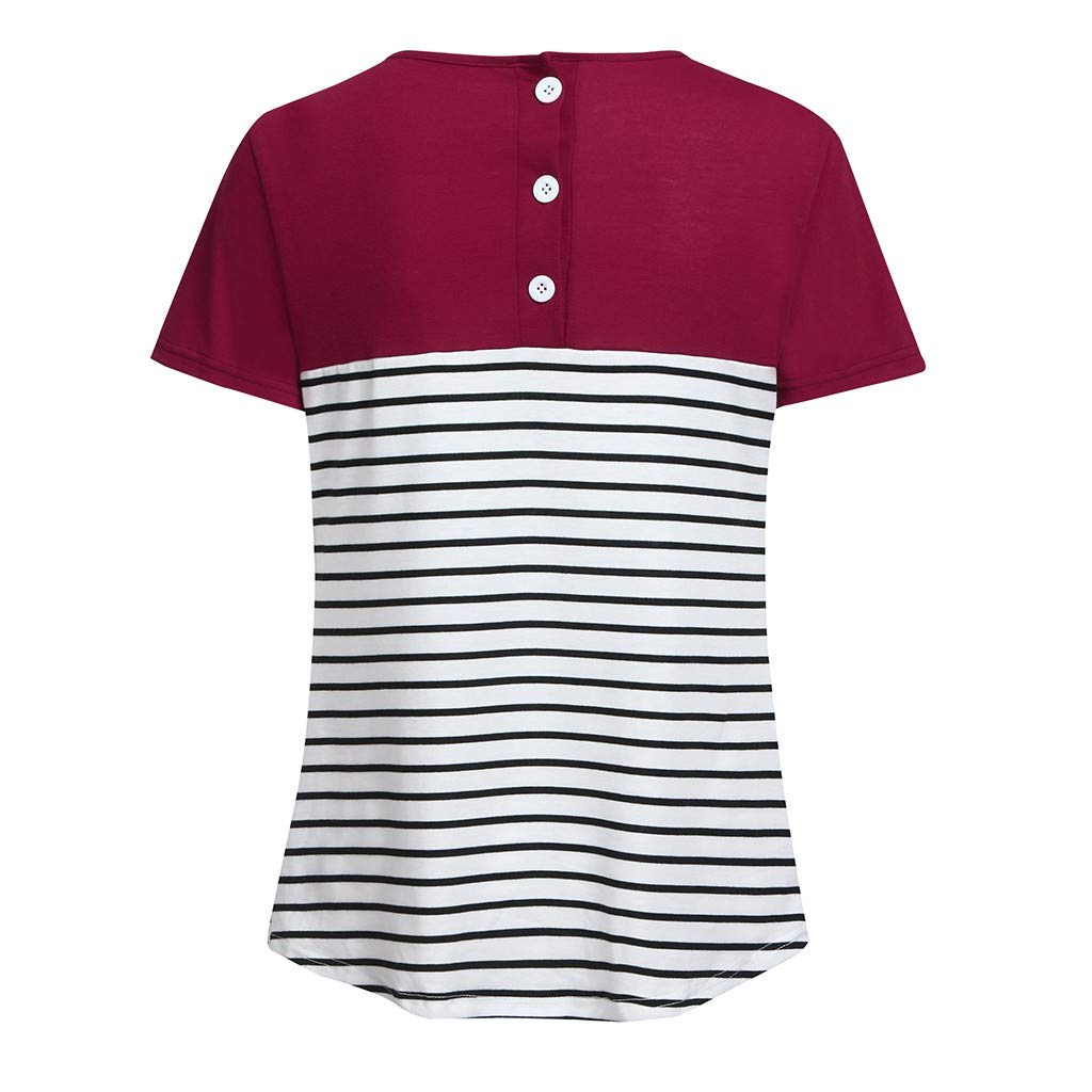 2567bc5b Nacome_Dress Formal Summer Casual Work Maternity Maternity Short Sleeve  Stripe Splicing Mom Nursing Tops T-Shirt XX-Large Navy: Amazon.in: Home &  Kitchen