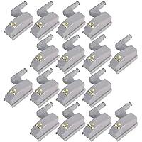 Fransande 16-delig LED-scharnier voor keukenkasten, kasten, nachtlampje, woonkamer / slaapkamer / kast