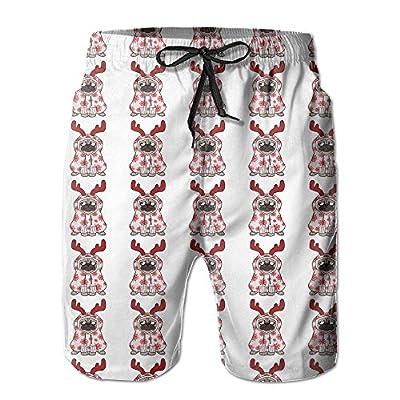Qpkia Christmas Pugs Dog Men Water Sports Beach Pants Pocket for sale