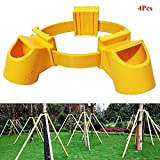 Exttlliy Adjustable PVC Fruit Tree Fixation Support Tool Tree Stakes Kit Plant Windbreak Include 1 Tie 3 Goblets (4pcs)