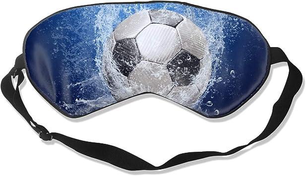 Gotas de agua alrededor del balón de fútbol en azul Máscara de ...