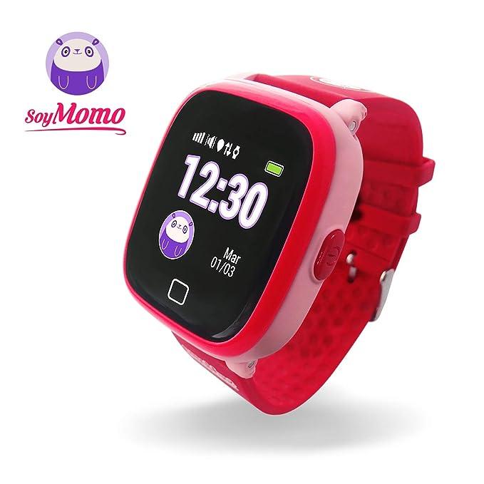 SoyMomo H2O Reloj Inteligente para Niños con GPS y Botón SOS, Móvil para niños con Ranura para SIM Que Permite Llamadas y Mensajes, Smartwatch para ...