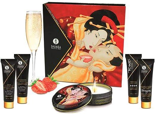 Secretos de una Geisha Aroma Cava y Fresas - Kit Viaje Masaje Erótico by Shunga: Amazon.es: Salud y cuidado personal