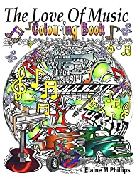 The Love of Music Colouring Book: Adult Colouring Book
