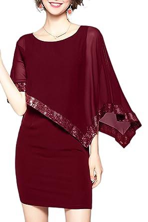 Kleid mit chiffon poncho
