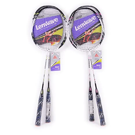 Amazon.com : Lenwave Badminton Set Two CarbonShaft Badminton Racquet Badminton Racket Set Including Badminton Bag Set of 2 (Pink) : Sports & Outdoors