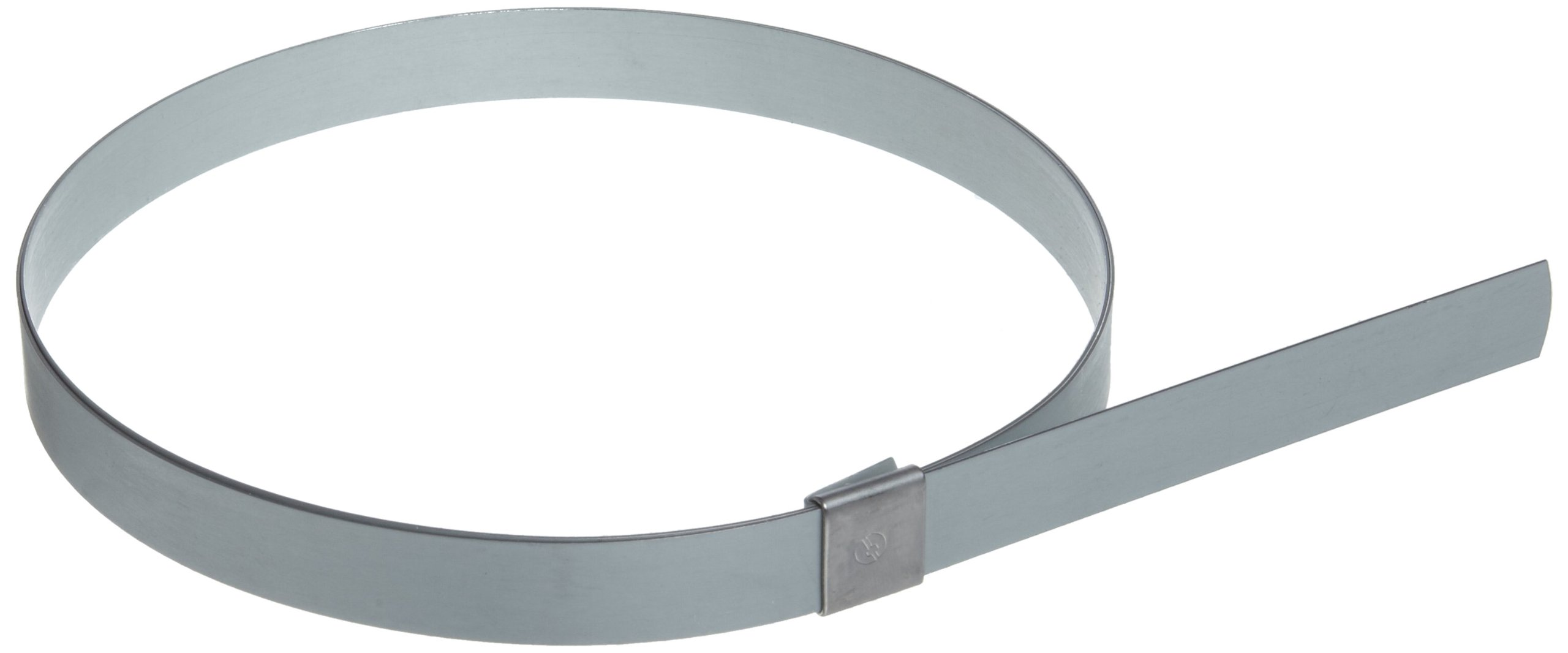 BAND-IT CP2099 5/8'' Wide x 0.025'' Thick 5'' Diameter, Galvanized Carbon Steel Center Punch Clamp (25 Per Box) by Band-It
