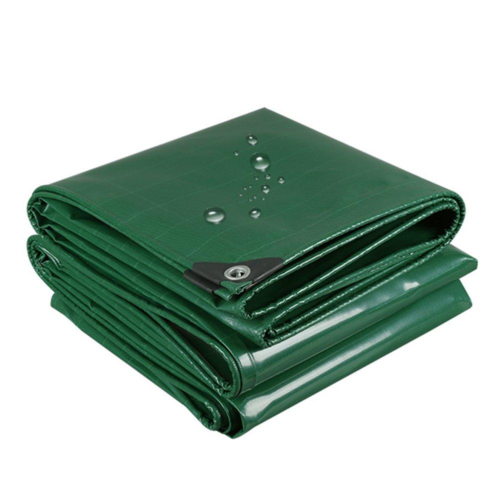 CHAOXIANG オーニング 厚い 両面 防水 耐寒性 耐高温性 耐摩耗性 耐食性 防風 防塵の PVC 緑、 500g/m 2、 厚さ 0.4mm、 16サイズ (色 : 緑, サイズ さいず : 6×6m) B07DBPMJ44  緑 6×6m