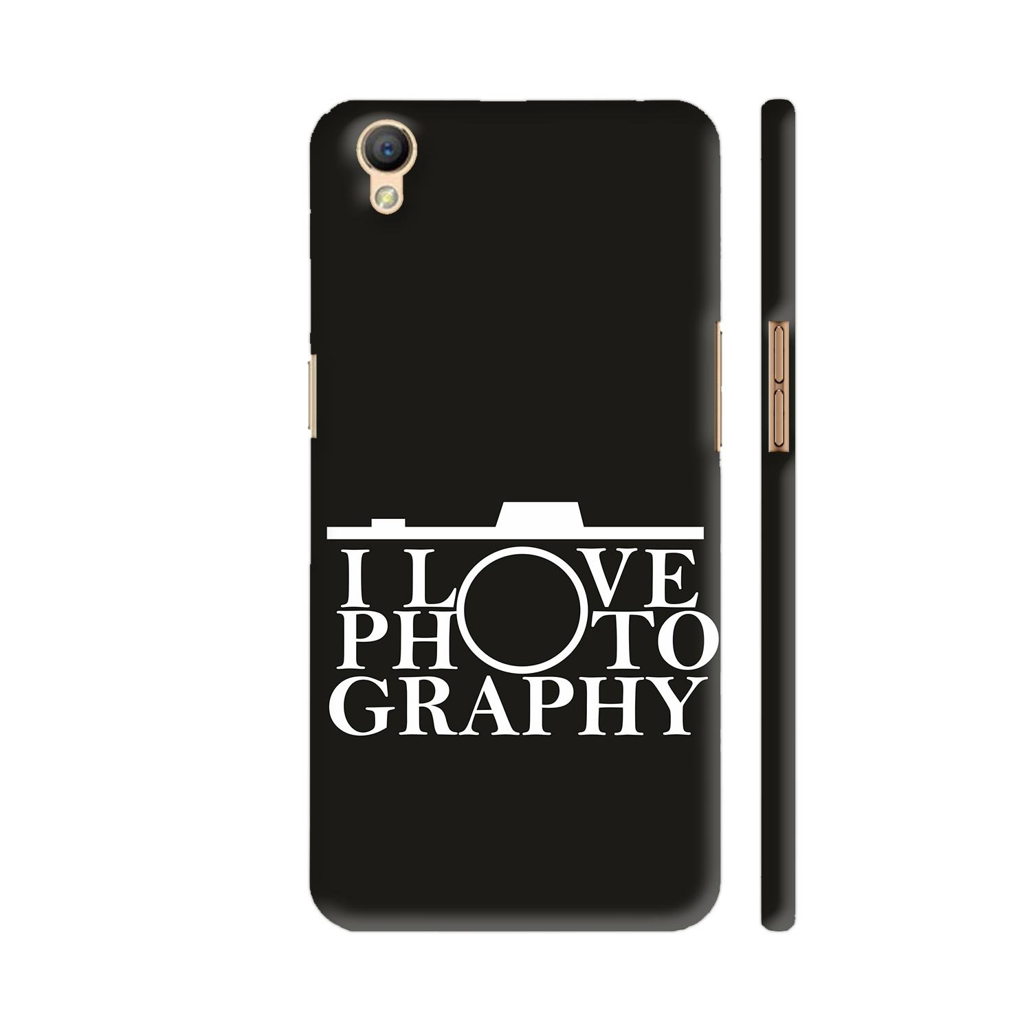 Colorpur Oppo A37 Cover I Love Photography Printed Glitter Bling Wrap Skin For Electronics