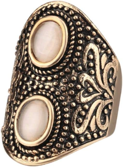 Retro Punk Natural Cat S Eye Stone Men Rings Old Gold Plated Exaggerated Carved Men S Nightclub Ring 9us Price In Uae Amazon Uae Kanbkam