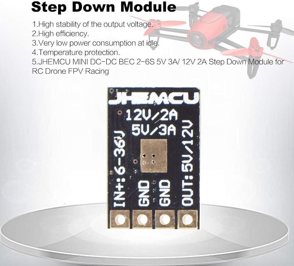 12V 2A Step Down-Modul f/ür RC Drone FPV Racing Stromversorgungsmodul Voltage Buck Converter Leoboone JHEMCU Mini DC-DC BEC 2-6S 5V 3A