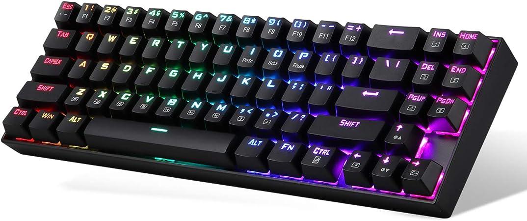 Redragon K553-RGB USAS RGB LED retroiluminado teclado mecánico para juegos (negro) Black with RGB back light