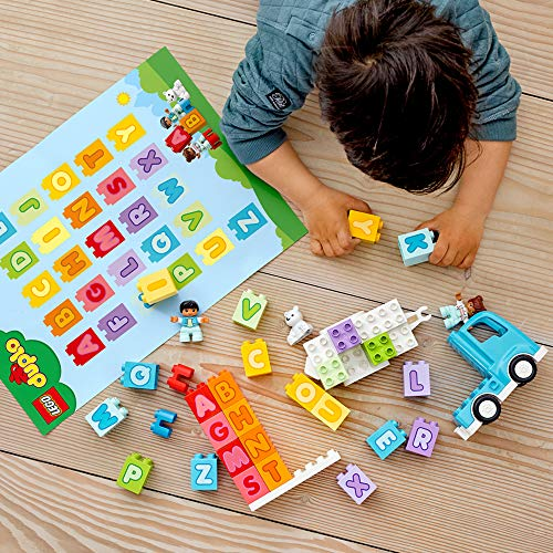 61th04W6hJL - LEGO DUPLO My First Alphabet Truck 10915 ABC Letters Learning Toy for Toddlers, Fun Kids' Educational Building Toy, New 2020 (36 Pieces)