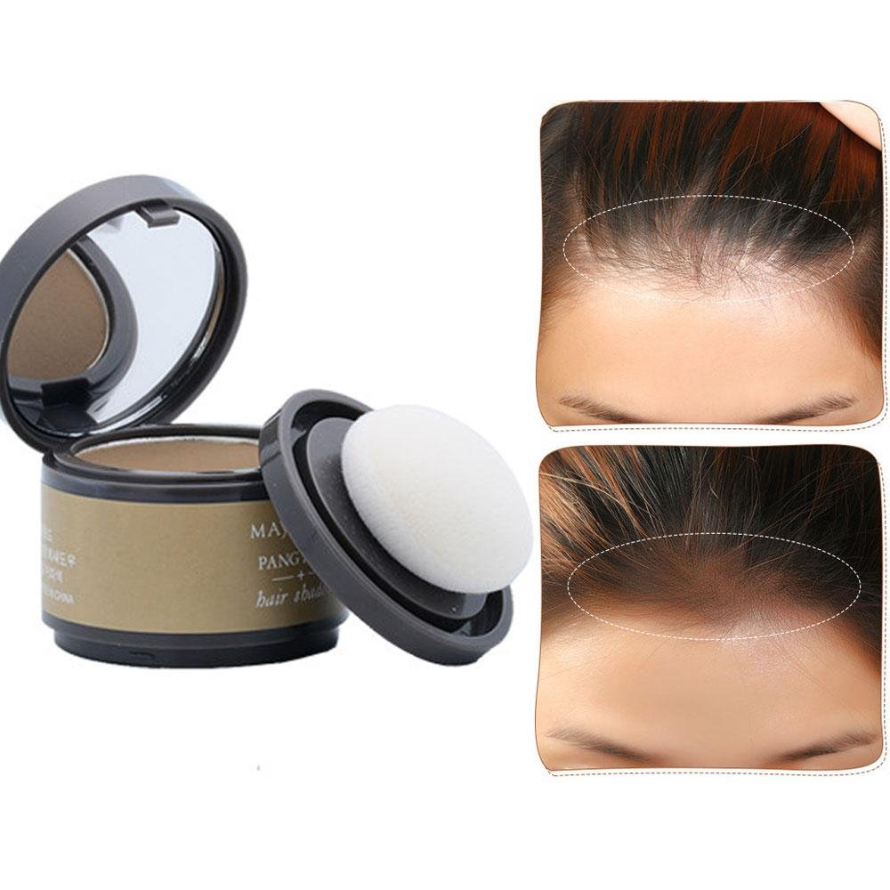 Hair Color Powder, Leegoal wasserdicht Line Schatten Make-up Haare Abdeckung Concealer Haarpuder erfrischt Haar (dark brown)