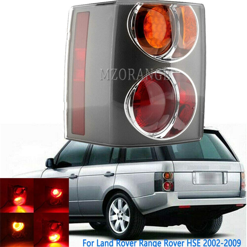 MZORANGE Tail Light Lamp For Land Rover Range Rover HSE L322 2002 2003 2004 2005 2006 2007 2008 2009 Stop Brake Indicator Warning Light Red and Orange with Bulb