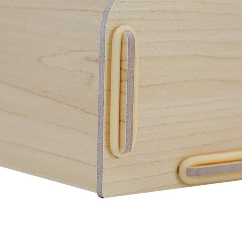 Wood magazine holder, Desktop storage rack File rack Desktop stationery storage box Books stand File folders Simple Houseware Office supplies-Beige 51.5x32.5x49cm(20x13x19inch) by Wayer (Image #3)