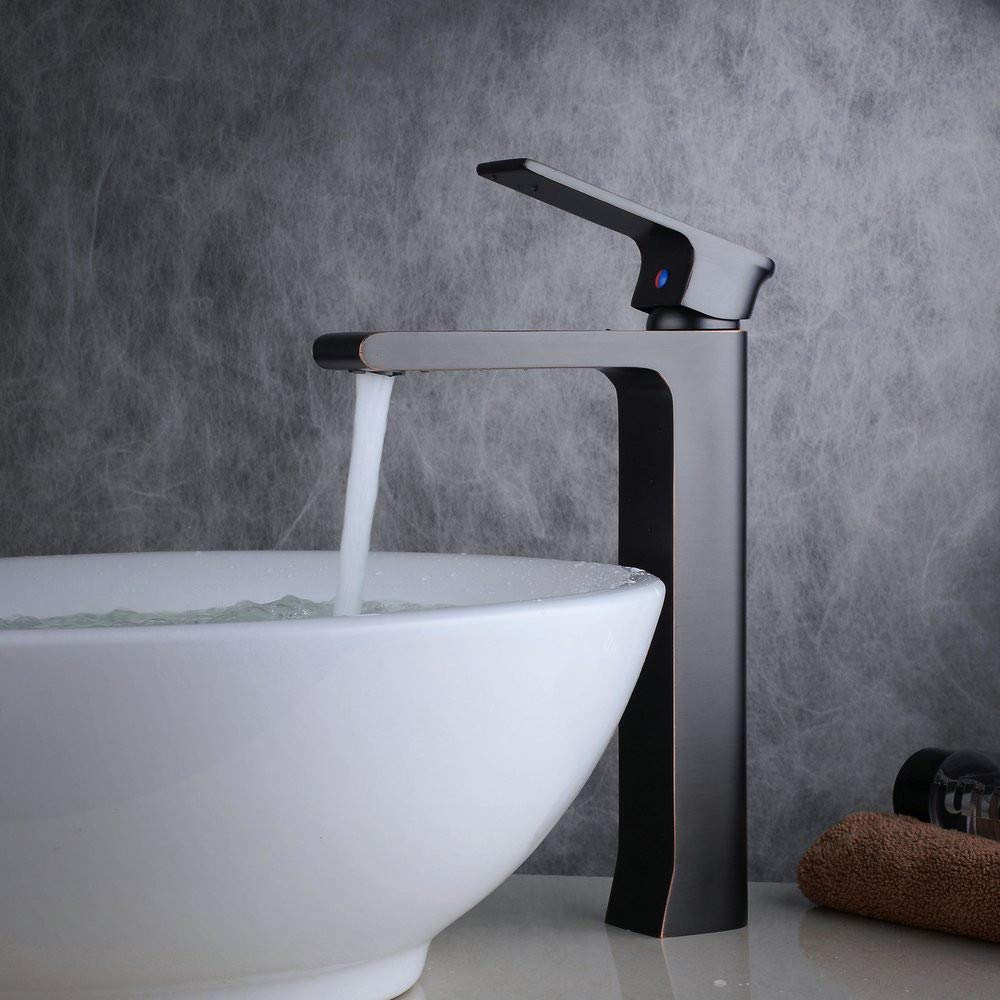 Water Taptall Counter Top Basin Mixer Tap Single Handle One Hole Bathroom Sink Faucet Solid Brass Oil Rubbed Bronze